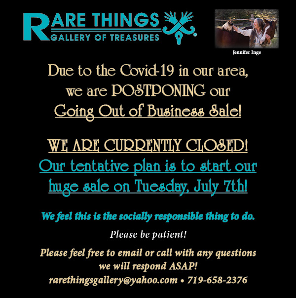 rare things eblast postponed