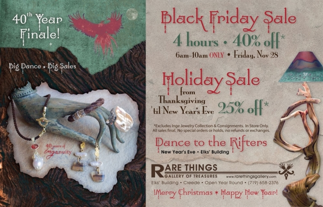 Rare Things Gallery 40th Anniversary Holiday Sales