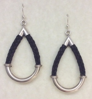 Inge Black Horsehair Earrings
